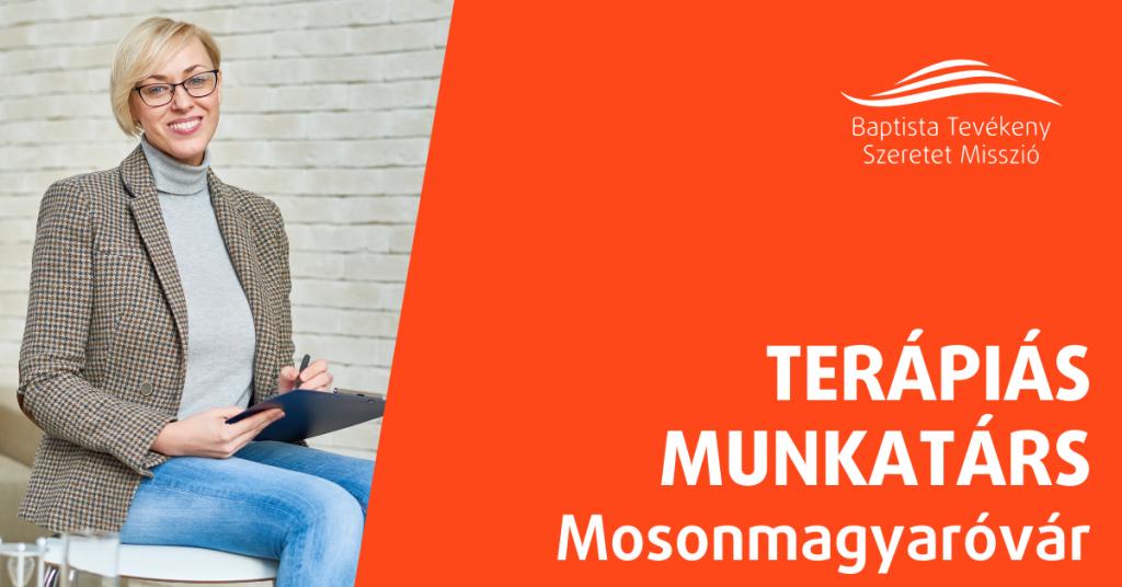 TERÁPIÁS MUNKATÁRS – MOSONMAGYARÓVÁR